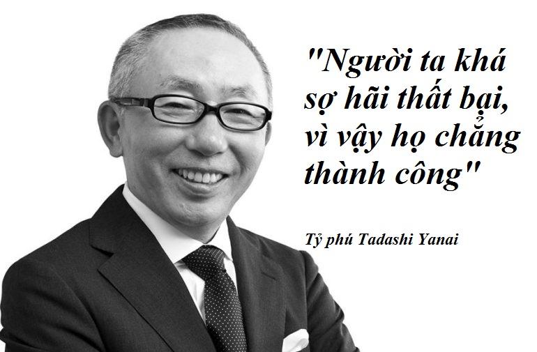 Ông chủ Uniqlo: 'Người ta khá sợ thất bại nên họ chẳng thành công'