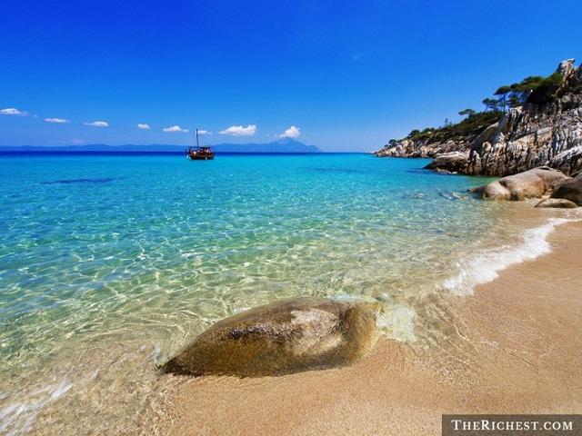 bai bien paradise, mykonos, hy lap