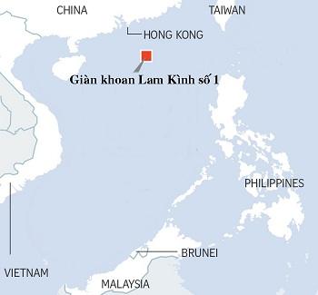 mo bang chay nam o khu vuc bien than ho, cach hong kong khoang 300 km ve phia dong nam. do hoa:st