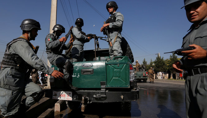 canh sat afghanistan tai thu do kabul - anh: reuters