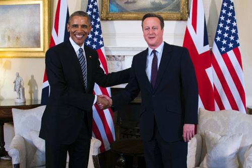 thu tuong anh d. cameron va tong thong my b. obama truoc cuoc gap tai london hom 22/4.