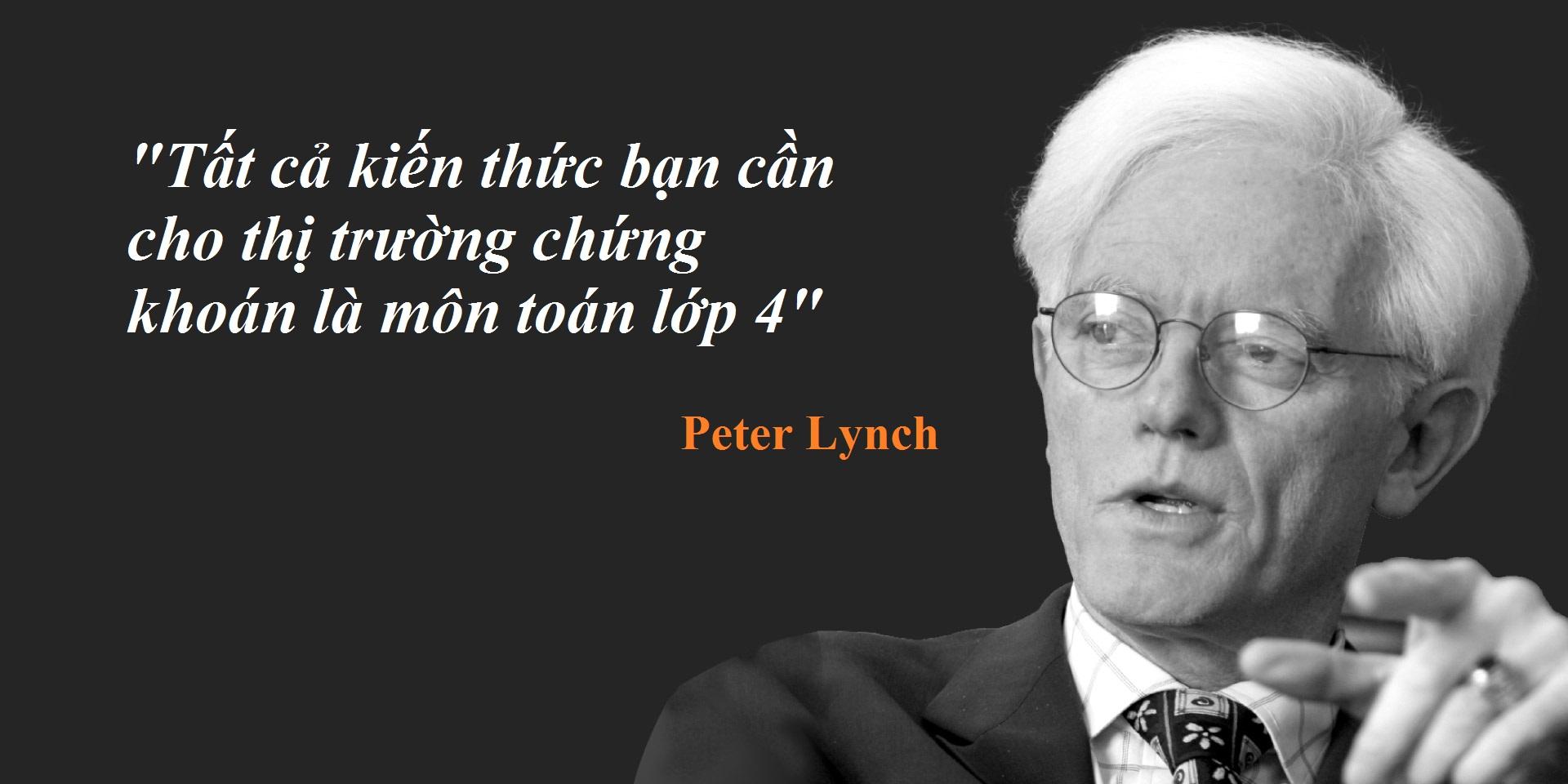 peter lynch,phu thuy dau tu co phieu, tin rang tri thong minh cua mot nguoi co the danh bai thi truong