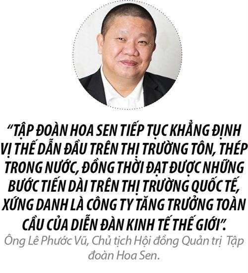 Top 50 2017: Cong ty Co phan Tap doan Hoa Sen