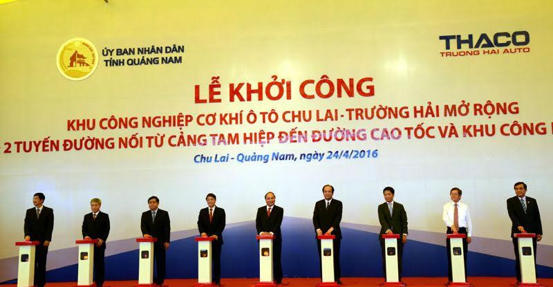 khoi cong mo rong kcn co khi o to chu lai - truong hai cuoi thang 4/2016.