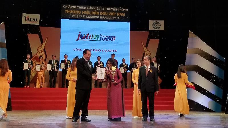 JOTONPAINT nhận giải thưởng Thương hiệu dẫn đầu Việt Nam 2019