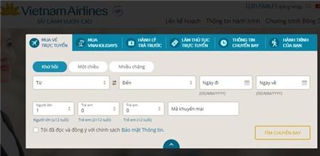 website cua vietnam airlines da hoat dong tro lai.