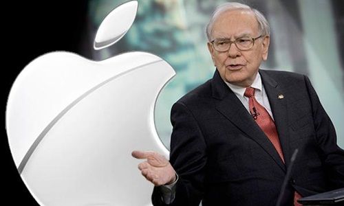 cong ty berkshire hathaway cua buffett da tang gap ruoi co phan tai apple. anh:the street