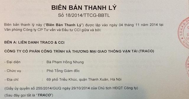 viec thanh ly thoa thuan chuyen giao 18/2014/ttcg da cho thay vai tro thuc su cua ht tai du an tu thoi diem 4/11/2014