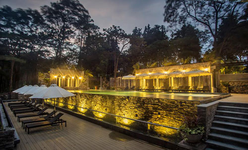 le mont bavi resort & spa – resort co tat ca 13 khu nha nghi duong, phan lon dung bang go.