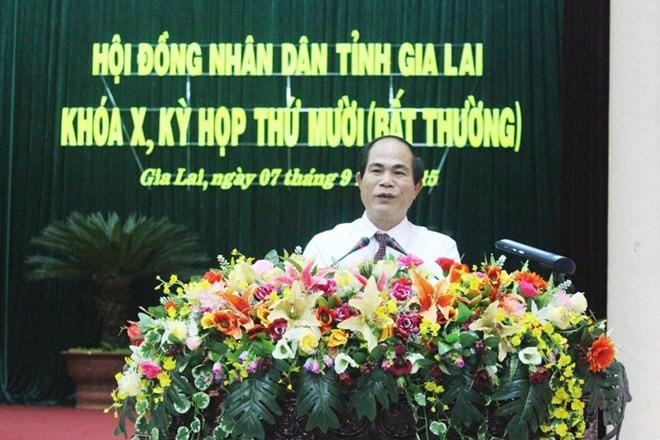 ong vo ngoc thanh, uy vien ban thuong vu tinh uy, pho chu tich ubnd tinh gia lai duoc bau chuc vu chu tich ubnd tinh gia lai nhiem ky 2011 - 2016. (anh: bao gia lai)