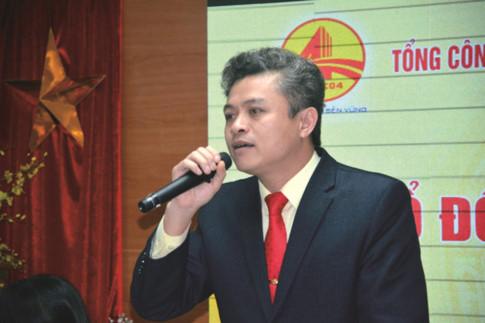 Chủ tịch HĐQT, Tổng giám đốc Cienco4 Nguyễn Tuấn Huỳnh phát biểu tại đại hội