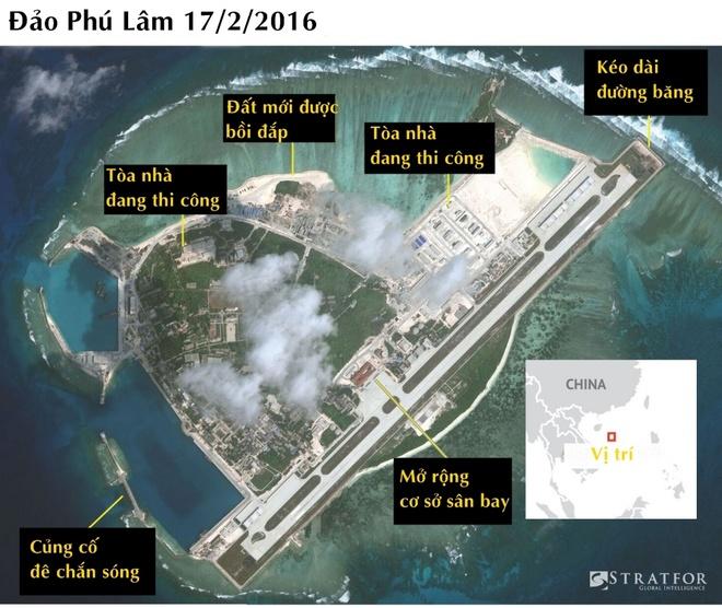 Cơ sở bị nghi là kho chứa vũ khí của Trung Quốc ở Hoàng Sa