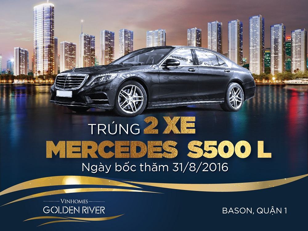 mua nha vinhomes golden river trung sieu xe mercedes s500l