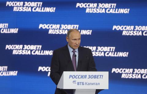 Ông Putin vui mừng công bố kinh tế Nga