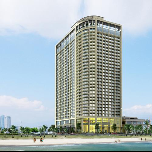 mat tien cua four points by sheraton and luxury apartment