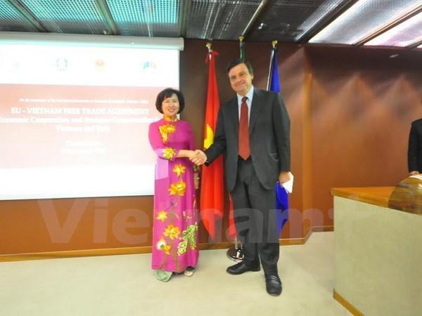 Việt Nam-Italy thảo luận biện pháp thúc đẩy hợp tác kinh tế