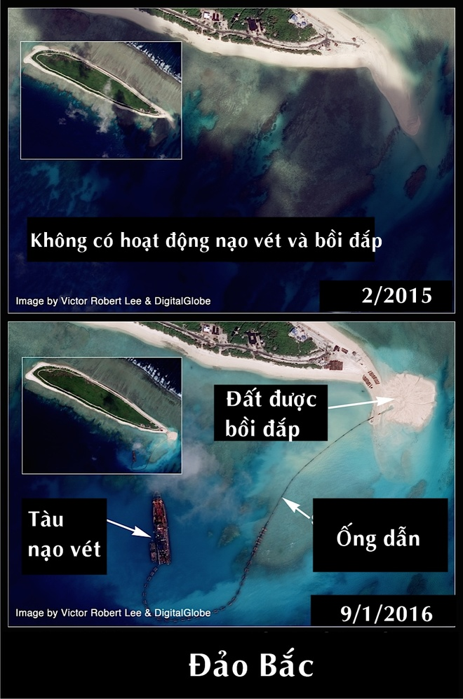 Trung Quốc xây căn cứ trực thăng trái phép ở Hoàng Sa