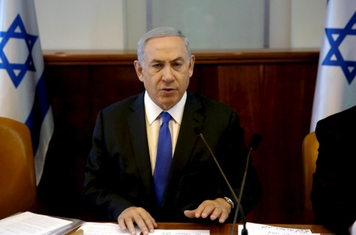thu tuong israel benjamin netanyahu trong mot cuoc hop noi cac o jerusalem hom 10/1. anh:reuters