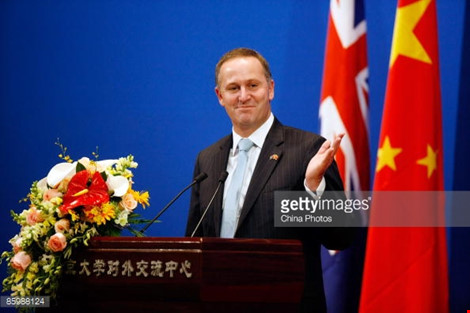 thu tuong new zealand john key. anh: getty images