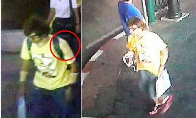 hinh anh nghi pham danh bom duoc camera ghi lai - anh: bangkok post