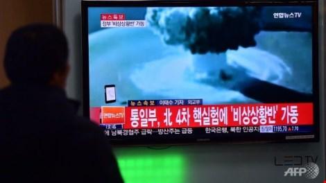 kenh truyen hinh yonhap news dua tin vu trieu tien thu nghiem thanh cong bom nhiet hach hom 6-1. anh: afp