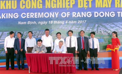 Nam Định khởi công khu công nghiệp dệt may lớn nhất nước