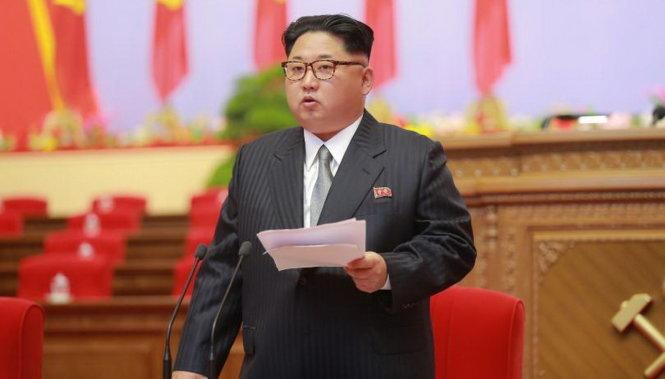 ong kim jong un phat bieu khai mac dai hoi dang lao dong trieu tien ngay 6-5 -anh: reuters