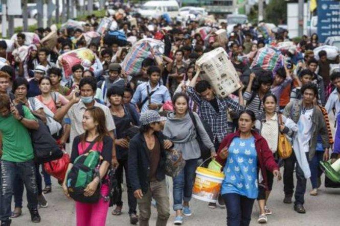 Thái Lan khủng hoảng vì lao động nhập cư tháo chạy