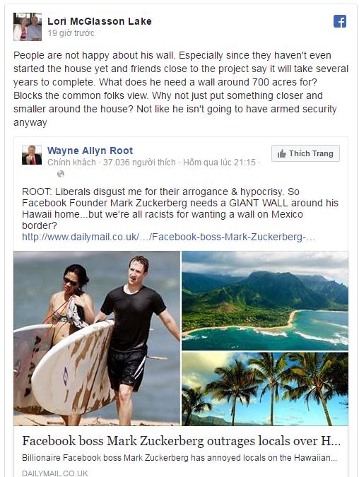 Mark Zuckerberg xây tường khiến cộng đồng giận dữ