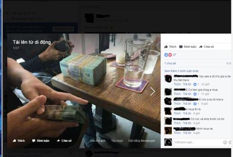 canh mua ban tien gia cong khai duoc chu tai khoan nay dang len mang de cau khach.