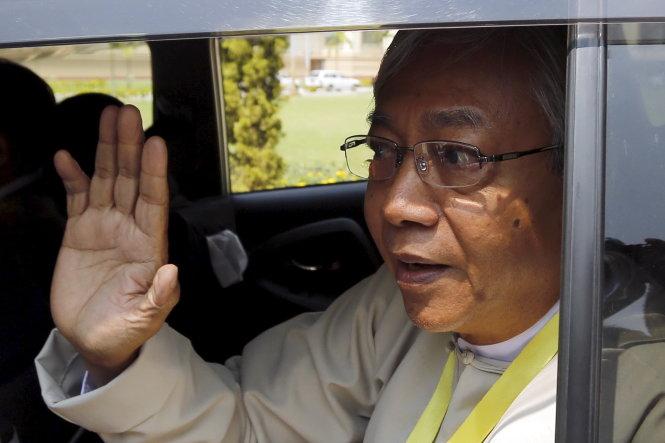 tan tong thong vua duoc bau cua myanmar, ong htin kyaw - anh: reuters