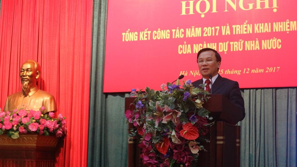 thu truong bo tai chinh tran van hieu phat bieu chi dao tai hoi nghi truc tuyen tong ket cong tac nam 2017 va trien khai nhiem vu nam 2018 cua nganh dtnn, ngay 25/12/2017.