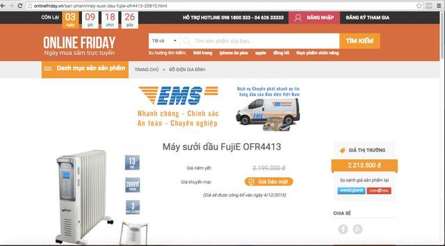 """Ngày hội mua sắm Online Friday 2015 sẽ có công cụ chống khuyến mại """"ảo"""""""