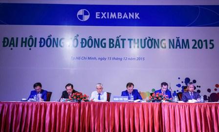 """dai hoi co dong bat thuong 2015 cua eximbank """"nong"""" van de nhan su hdqt"""