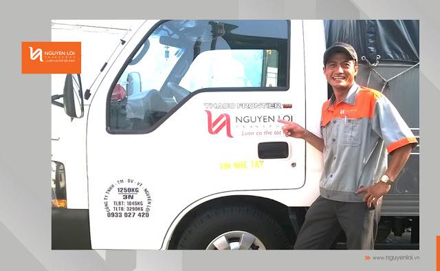 NguyenloiMoving nơi cung cấp dịch vụ thuê xe tải an toàn, uy tín