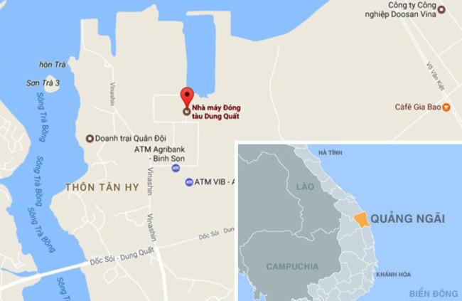 nha may dong tau dung quat (quang ngai). anh:google map.