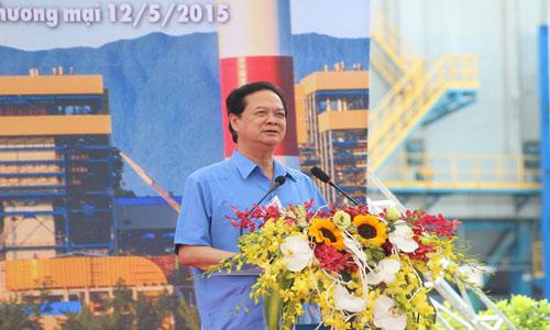 thu tuong nguyen tan dung phat bieu tai lekhanh thanh nha may nhiet dien vung ang 1