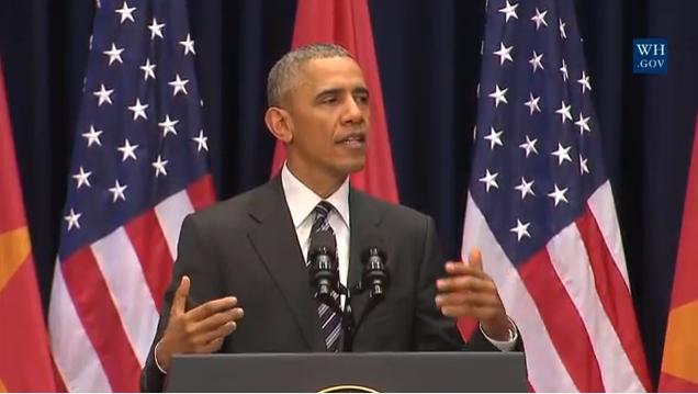 """Tổng thống Obama: """"Một quốc gia dù lớn hay nhỏ thì chủ quyền là quan trọng và cần được tôn trọng"""""""