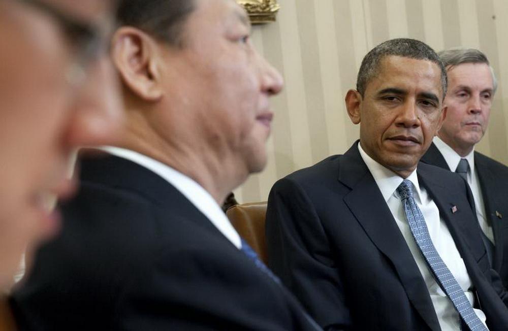 tong thong my barack obama tiep ong tap can binh tai nha trang hoi thang 2.2012 - anh: afp