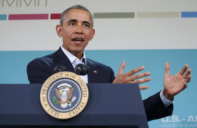 ong obama phat bieu trong cuoc hop bao - anh: reuters