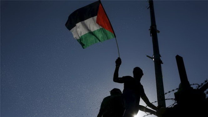 palestine nhan duoc da so phieu ung ho ve viec duoc phep thuong co tai tru so lhq - anh: reuters