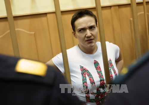 nu phi cong nadiya savchenko tai phien toa o moskva, nga ngay 7/11/2014.anh: afp/ttxvn.