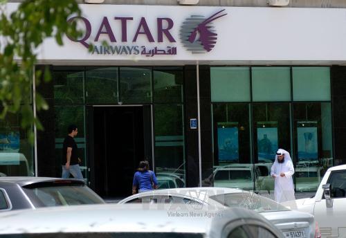 tru so hang hang khong qatar airways tai doha, qatar ngay 6/6. anh: thx/ttxvn