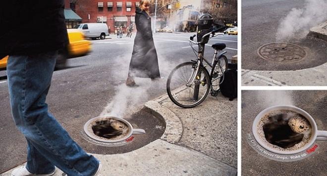 Những quảng cáo đường phố ấn tượng nhất thế giới