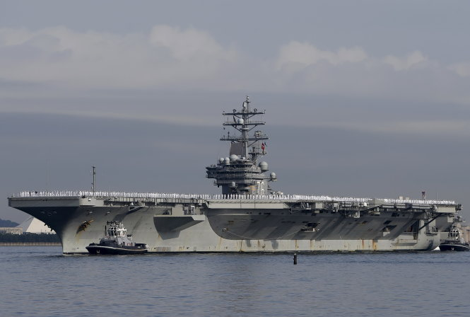 tau san bay uss ronald reagan -  anh: reuters