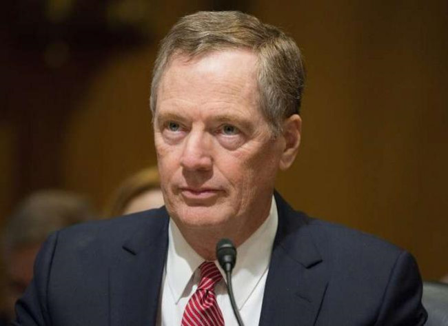 dai dien thuong mai my robert lighthizer. anh: afp.