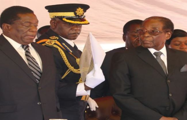 tong thong zimbabwe robert mugabe phai ra di. anh: cankao.