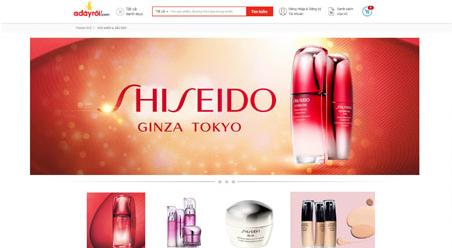 san pham shiseido hien thi tren website truc tuyen.