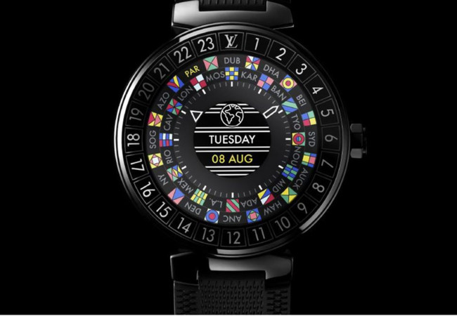 smartwatch tambour horizon cua louis vuitton