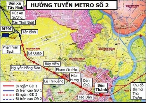 so do tuyen metro so 2. anh:bql duong sat do thi tp hcm